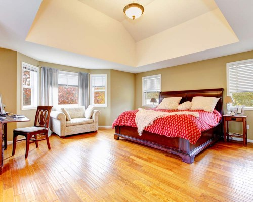 Bedroom With Laminate Flooring