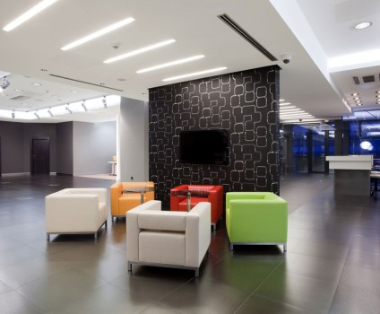 Vinyl Tiles in Modern Commercial Building
